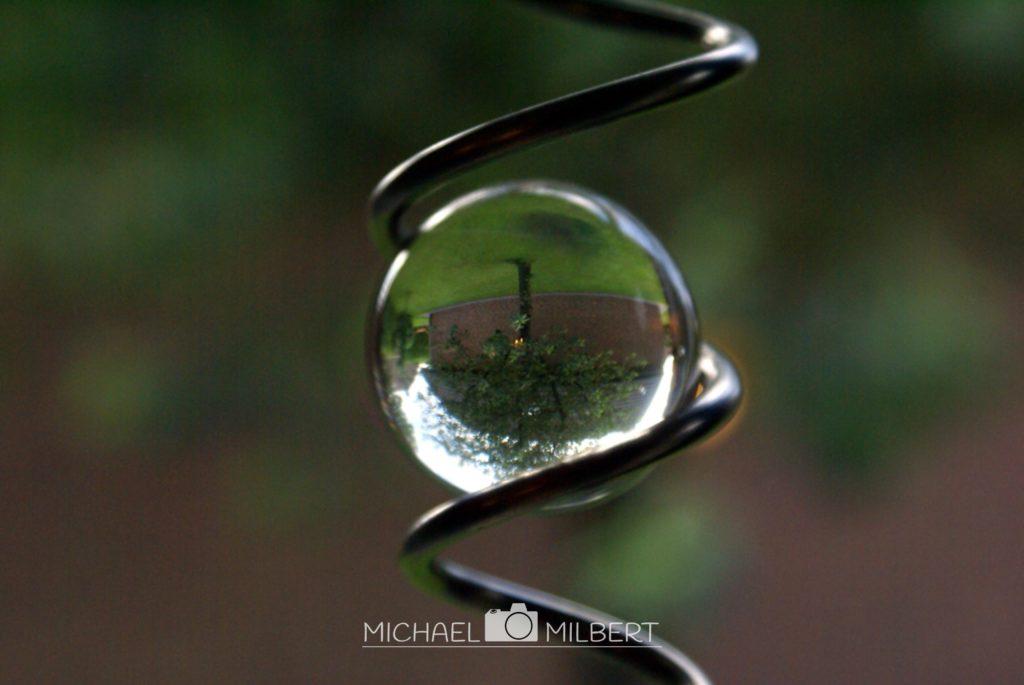 Kristalkugel mit Kirchbaum